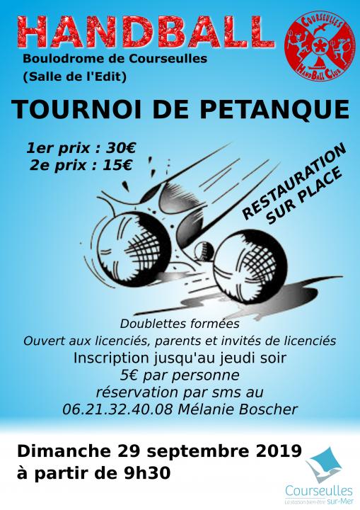 Tournoi de Pétanque 29 septembre 2019
