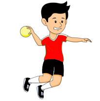 Preparing To Throw Ball Playing Handball Outdoor Clipart